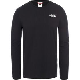 The North Face Pitkähihainen T-paita Miehet, tnf black